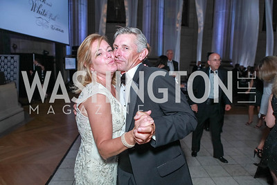 Deidre Adkins, Sean Reeves. The Children's National Black and White Ball. Mellon Auditorium. May 12, 2012. Photo Alfredo Flores