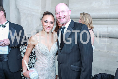 Ashley Boalch, Michael Darby. The Children's National Black and White Ball. Mellon Auditorium. May 12, 2012. Photo Alfredo Flores