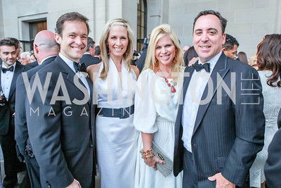 Mike Manatos, Laura Evans, Susan Feffer, Andy Feffer. The Children's National Black and White Ball. Mellon Auditorium. May 12, 2012. Photo Alfredo Flores