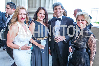 Katherine Vernot-Jonas, Margrita Arroyave-Wesse, Stephen Goldberg, Dina Goldberg. The Children's National Black and White Ball. Mellon Auditorium. May 12, 2012. Photo Alfredo Flores