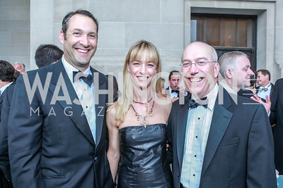 Dave Pollin, Kirsten Pollin, Kurt Newman. The Children's National Black and White Ball. Mellon Auditorium. May 12, 2012. Photo Alfredo Flores