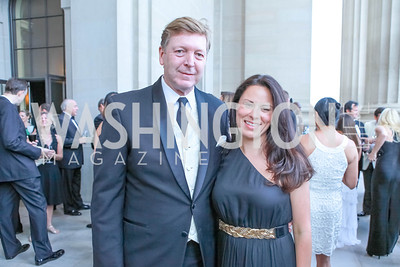 David Wessel, Margrita Arroyave-Wesse. The Children's National Black and White Ball. Mellon Auditorium. May 12, 2012. Photo Alfredo Flores