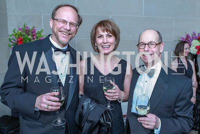 Robert Haase, Brenda Richards, Carl Spatz. The Children's National Black and White Ball. Mellon Auditorium. May 12, 2012. Photo Alfredo Flores