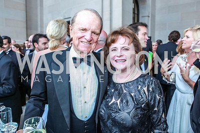 George Stevens, Jr., Elizabeth Stevens. The Children's National Black and White Ball. Mellon Auditorium. May 12, 2012. Photo Alfredo Flores