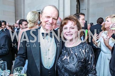 George Stevens, Jr., Elizabeth Stevens. The Children's National Black and White Ball. Mellon Auditorium. May 12, 2012. Photo Alfredo Flores
