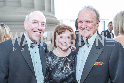 Kurt Newman, Elizabeth Stevens, George Stevens, Jr. The Children's National Black and White Ball. Mellon Auditorium. May 12, 2012. Photo Alfredo Flores