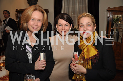 Carol Ross Joynt, Joann Mason, Francesca Craig. The Darlings Book Party, Cristina Alger, Mason Residence, Tuesday February 28th, photo by Ben Droz