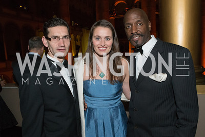 James Lawer, Willard Wigan, Avery Shattuck. The Lab School of Washington Awards Gala. Photo by Alfredo Flores. The National Building Museum. November 8, 2012
