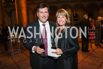 John Roman, Lara Roman. The Lab School of Washington Awards Gala. Photo by Alfredo Flores. The National Building Museum. November 8, 2012