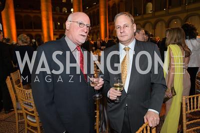 Michael Weisskopf, John Parachini. The Lab School of Washington Awards Gala. Photo by Alfredo Flores. The National Building Museum. November 8, 2012