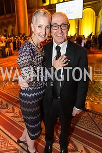 Sheila Feinberg, David Feinberg. The Lab School of Washington Awards Gala. Photo by Alfredo Flores. The National Building Museum. November 8, 2012