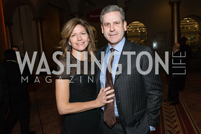 Collette Marvin, Brian Marvin. The Lab School of Washington Awards Gala. Photo by Alfredo Flores. The National Building Museum. November 8, 2012