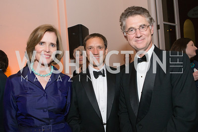 Mary Challinor, Mark Sumerlin, Peter Fisher. The Lab School of Washington Awards Gala. Photo by Alfredo Flores. The National Building Museum. November 8, 2012