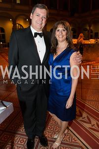 Steve Baker, Margaret Grisius-Baker. The Lab School of Washington Awards Gala. Photo by Alfredo Flores. The National Building Museum. November 8, 2012