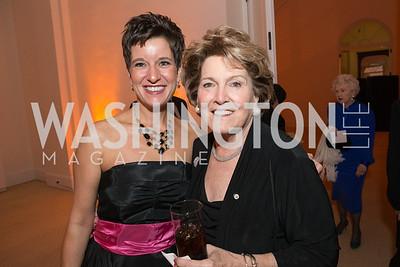 Jen Durham, Mimi Dawson. The Lab School of Washington Awards Gala. Photo by Alfredo Flores. The National Building Museum. November 8, 2012
