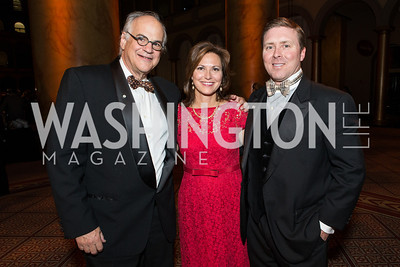 John Luneo, Diane Wiley, Doug Wiley. The Lab School of Washington Awards Gala. Photo by Alfredo Flores. The National Building Museum. November 8, 2012