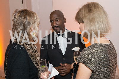 Christine Berman, Willard Wigan, Hadley Bowd. The Lab School of Washington Awards Gala. Photo by Alfredo Flores. The National Building Museum. November 8, 2012