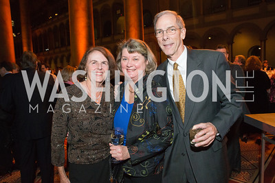 Sally Seawright, Claire Drury, Bruce Drury. The Lab School of Washington Awards Gala. Photo by Alfredo Flores. The National Building Museum. November 8, 2012