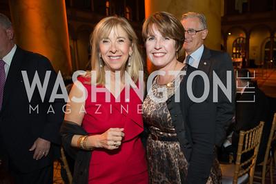 Katharine Everett, Nancy Bubes. The Lab School of Washington Awards Gala. Photo by Alfredo Flores. The National Building Museum. November 8, 2012