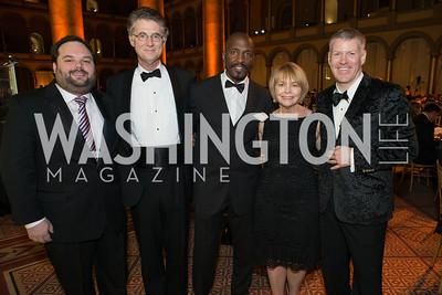 Brandon Estrin, Peter Fisher, Willard Wigan, Katherine Shantz, Ben Foss. The Lab School of Washington Awards Gala. Photo by Alfredo Flores. The National Building Museum. November 8, 2012