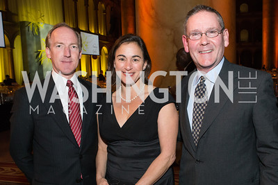 Geoffrey Griffis, Claire Bloch, Hal Malchow. The Lab School of Washington Awards Gala. Photo by Alfredo Flores. The National Building Museum. November 8, 2012