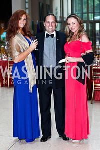 Victoria Barton, Edmund Bergassi, Marianna Kornyeva. Photo by Tony Powell. The National Museum of Catholic Art & Library Board of Trustees Gala. Italian Embassy. September 26, 2012