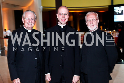 Father Phillip Brown, Kyle Doustou, Father Steve Olds. Photo by Tony Powell. The National Museum of Catholic Art & Library Board of Trustees Gala. Italian Embassy. September 26, 2012