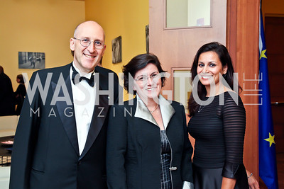 Luca and Marta Franchetti Pardo, Ingrid Impala. Photo by Tony Powell. The National Museum of Catholic Art & Library Board of Trustees Gala. Italian Embassy. September 26, 2012