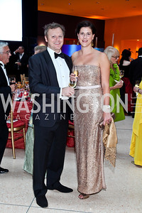 David Luczynski, Kim Coppola. Photo by Tony Powell. The National Museum of Catholic Art & Library Board of Trustees Gala. Italian Embassy. September 26, 2012