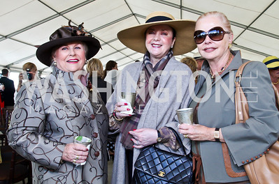 Jacqueline Mars, Monica Greenberg, Judy Esfandiary. Photo by Tony Powell. NSLM 2012 Benefit Polo Match and Luncheon. Llangollen Estate. September 23, 2012