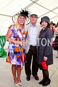 Bonnie and Murray Sewell, Christina Carroll. Photo by Tony Powell. NSLM 2012 Benefit Polo Match and Luncheon. Llangollen Estate. September 23, 2012
