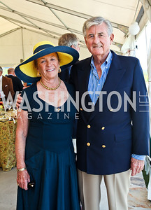 Patrcia and Donald Brennan. Photo by Tony Powell. NSLM 2012 Benefit Polo Match and Luncheon. Llangollen Estate. September 23, 2012
