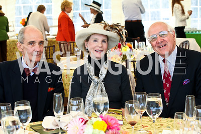 Charles Beyer, Mimi Abel Smith, Horace Laffaye. Photo by Tony Powell. NSLM 2012 Benefit Polo Match and Luncheon. Llangollen Estate. September 23, 2012