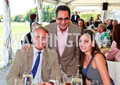 Walter Kansteiner, Bruce Tanous, Hannah Reuter. Photo by Tony Powell. NSLM 2012 Benefit Polo Match and Luncheon. Llangollen Estate. September 23, 2012