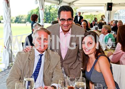 Walter Kansteiner, Bruce Tanous, Hannah Reuter. Photo by Tony Powell. NSLM 2012 Benefit Polo Match and Luncheon. Llangollen Estate. September 23, 2012