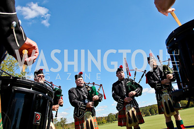 The Washington Scottish Pipe Band. Photo by Tony Powell. NSLM 2012 Benefit Polo Match and Luncheon. Llangollen Estate. September 23, 2012