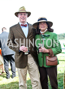 George Hundt, Gail Clark. Photo by Tony Powell. NSLM 2012 Benefit Polo Match and Luncheon. Llangollen Estate. September 23, 2012