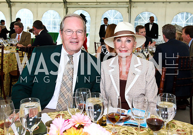 Chairman of the Board Manuel Johnson, Rose Marie Bogley. Photo by Tony Powell. NSLM 2012 Benefit Polo Match and Luncheon. Llangollen Estate. September 23, 2012