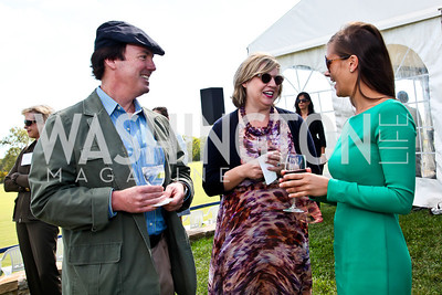 James Gavin, Courtney Straus, Ashley Dunn. Photo by Tony Powell. NSLM 2012 Benefit Polo Match and Luncheon. Llangollen Estate. September 23, 2012