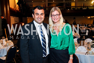 Book Prize recipient Ali Soufan and Heather Soufan. The 9th Ridenhour Prizes. Photo by Tony Powell. National Press Club. April 25, 2012