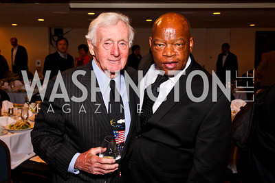 John Seigenthaler, 2012 Prize recipient Rep. John Lewis. The 9th Ridenhour Prizes. Photo by Tony Powell. National Press Club. April 25, 2012