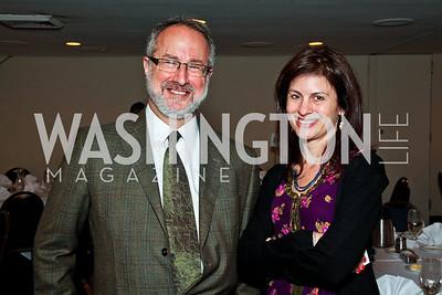 Nation Institute President Andy Breslau, Tara McKelvey. The 9th Ridenhour Prizes. Photo by Tony Powell. National Press Club. April 25, 2012