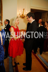 Nina Pillsbury,Ambassador Francois Delattre,April 12,2012,Tenth Anniversary of the Alliance Francaise Educational Intiatives,Kyle Samperton