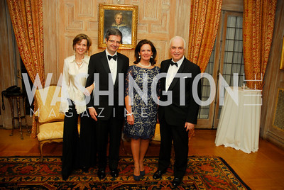 Sophie L'Hellas-Delattre,,Ambassador Francois Delattre,Agnes Mathysen,Ambassador Jan Mathysen,April 12,2012,Tenth Anniversary of the Alliance Francaise Educational Intiatives,Kyle Samperton