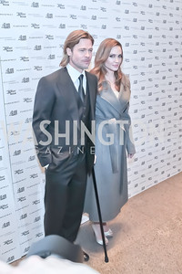 Brad Pitt, Angelina Jolie. The Washington, D.C. Premiere of Angelina Jolie's In The Land of Blood And Honey. United States Holocaust Memorial Museum. January 10, 2012. Photo by Alfredo Flores