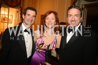Jamie Ravitz, Amanda Ravitz, Andy Macdonald,  Washington Home & Community Hospices Gala, Friday November 16, 2012, Photo by Ben Droz.