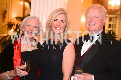 Donna Robinson, Kerry Fortune Carlsen, Dan Robinson,  Washington Home & Community Hospices Gala, Friday November 16, 2012, Photo by Ben Droz.