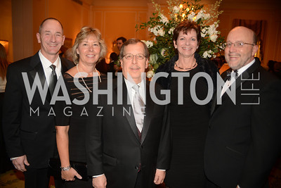 Carl Meyers, Kathy Meyers, Louis Rubin, Kathy Doyle, Tom Doyle,  Washington Home & Community Hospices Gala, Friday November 16, 2012, Photo by Ben Droz.