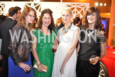 Shauna Alexander, Kristen Guiter, Holly Thomas, Svetlana Legetic,  The Annual Young and the Guest List party hosted by Washington Life Magazine.  Arena Stage, Monday, December 17, 2012 .  Events by Andre Wells, Photo by Ben Droz.