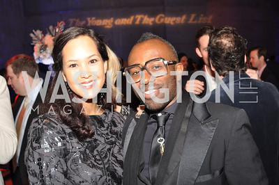 Ahnna Smith, Sheldon Scott, The Annual Young and the Guest List party hosted by Washington Life Magazine.  Arena Stage, Monday, December 17, 2012 .  Events by Andre Wells, Photo by Ben Droz.